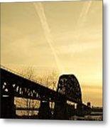 Indiana Ky Bridge Metal Print