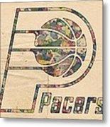 Indiana Pacers Poster Art Metal Print