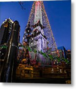 Indiana - Soldiers And Sailers Monument With Lights Metal Print