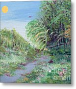 Indiana Spring Afternoon By The Creek Metal Print