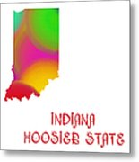 Indiana State Map Collection 2 Metal Print