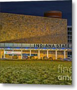 Indiana State Museum Night Delta Metal Print