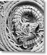 Indiana University Limestone Detail Metal Print