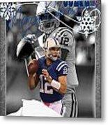 Indianapolis Colts Christmas Card Metal Print
