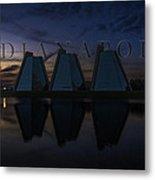 Indianapolis Indiana Hoosiers Pyramids Name Metal Print