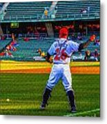 Indianapolis Indians Catcher Metal Print