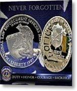 Indianapolis Metro Police Memorial Metal Print
