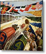 Indianapolis Motor Speedway - Vintage Lithograph Metal Print