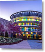 Indianapolis Museum Of Art Blue Hour Lights Metal Print by David Haskett