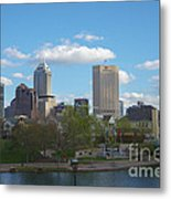 Indianapolis Skyline Blue 2 Metal Print by David Haskett