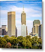 Indianapolis Skyline Picture Metal Print