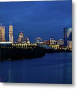 Indianapolis State Capitol And Skyline Metal Print