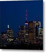 Indigo Sky And Toronto Skyline Metal Print