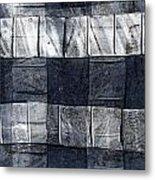 Indigo Squares 1 Of 5 Metal Print