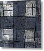 Indigo Squares 5 Of 5 Metal Print