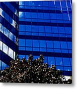 Indigo Tower Metal Print