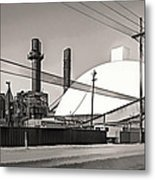 Industrial Art 2 Sepia Metal Print