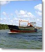 Industrial Cargo Ship Metal Print