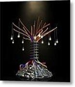 Industrial Future Tree Metal Print