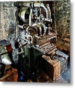 Industrial Gear Cutting Machine Metal Print