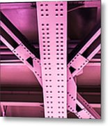Industrial Metal Purple Metal Print