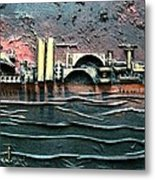 Industrial Port-part 2 By Rafi Talby Metal Print