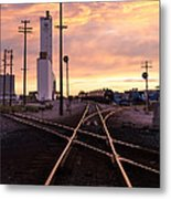 Industrial Rail Yard Metal Print