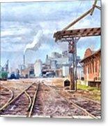 Industrial Railroad Scene  Metal Print