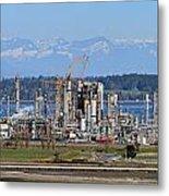 Industrial Refinery Metal Print