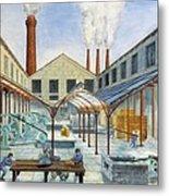 Industrial Revolution 19th C.. Factiry Metal Print