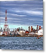Industrial View Metal Print