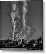 Industry In Black And White 2 Metal Print