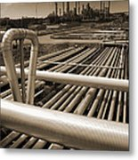Industry Oil Gas And Fuel Metal Print by Christian Lagereek