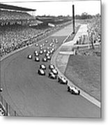 Indy 500 Race Start Metal Print