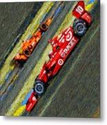 Indy Car's Tony Kanaan Metal Print by Blake Richards