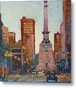 Indy Circle- Twilight Metal Print by Donna Shortt