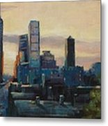 Indy City Scape Metal Print