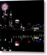 Indy Fireworks Metal Print by Joji Ishikawa