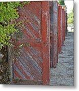 Infinite Red Doors Metal Print