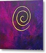 Infinity - Deep Purple With Gold Metal Print