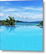 Infinity Swimming Pool Metal Print