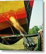 Inflation Of A Hot Air Balloon Metal Print