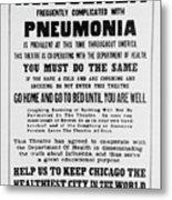 Influenza Poster Metal Print