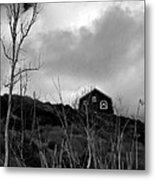 Infrared Barn Metal Print