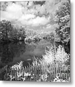 Infrared Mill Pond Metal Print