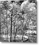 Infrared Stream Metal Print