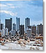 Infrared Sunset Over Honolulu Metal Print