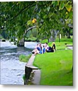 Inistioge Friends Metal Print