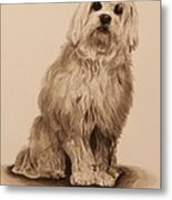 Ink Dog Metal Print