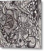 Ink Unfolding Metal Print